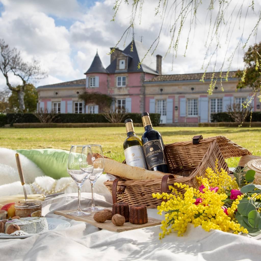 ブドウ園の中心部を訪れ、試飲してからピクニック