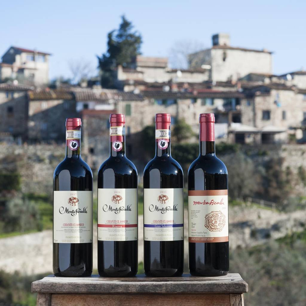 - Wine tasting in Chianti close to the medieval hamlet of Montefioralle