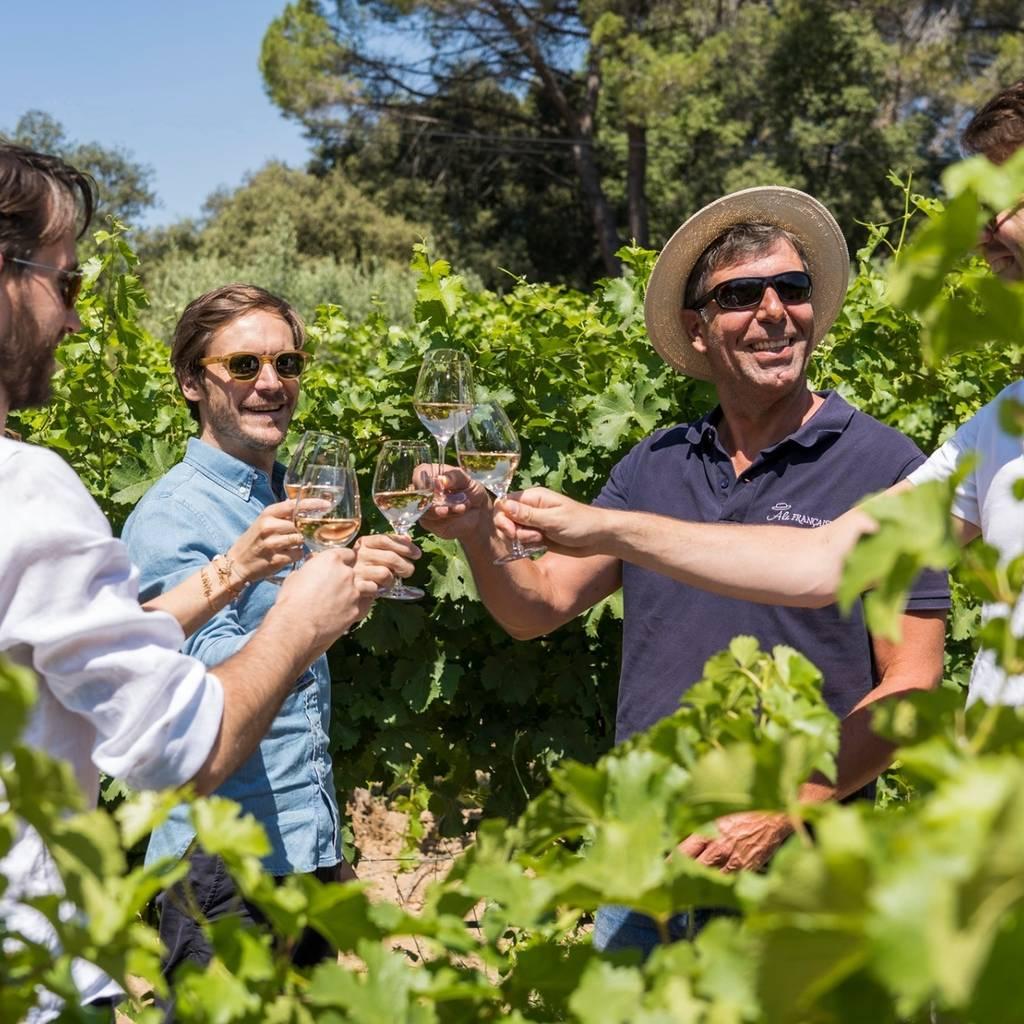 Morning Champagne Taittinger & family grower