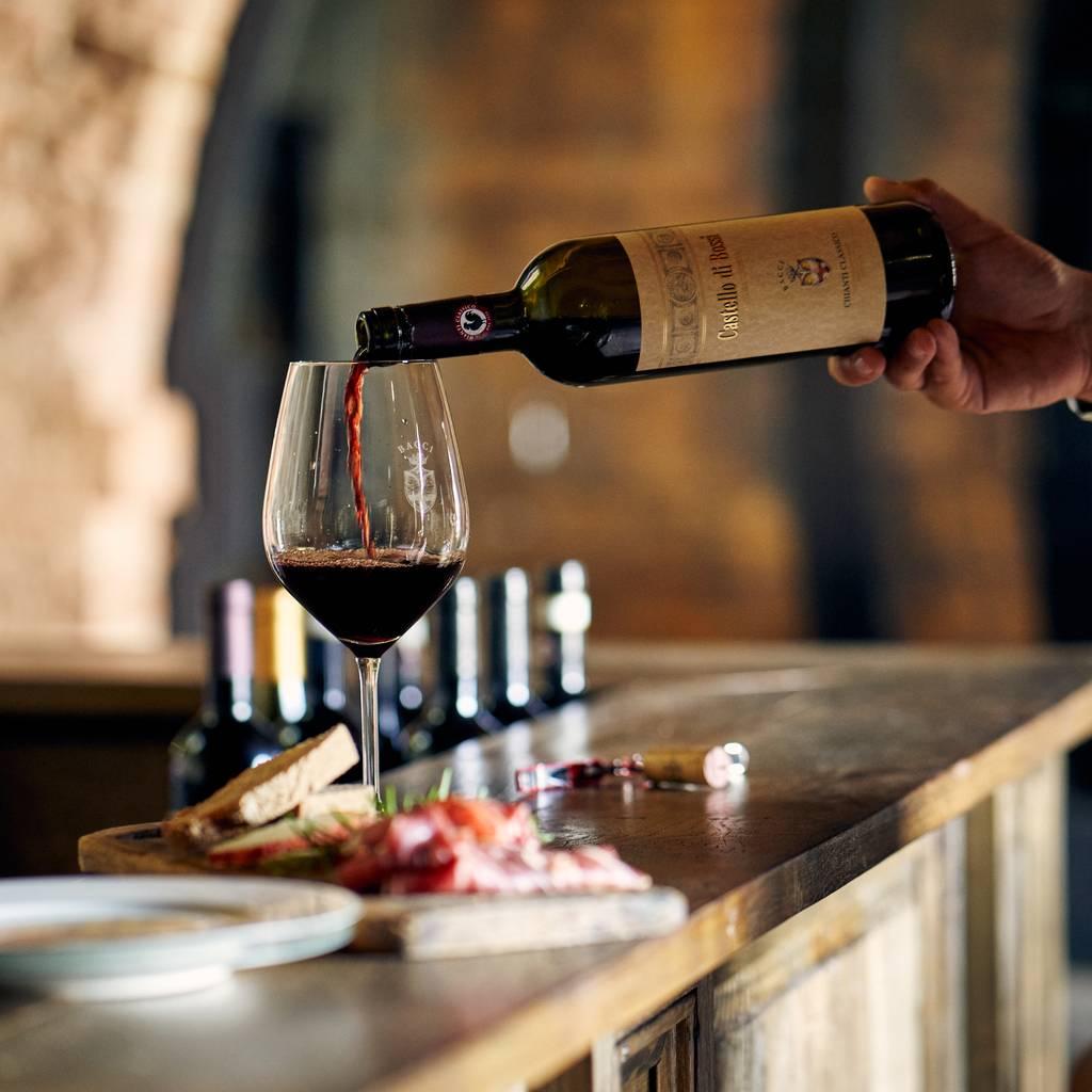 - Chianti tasting at Castello di Bossi