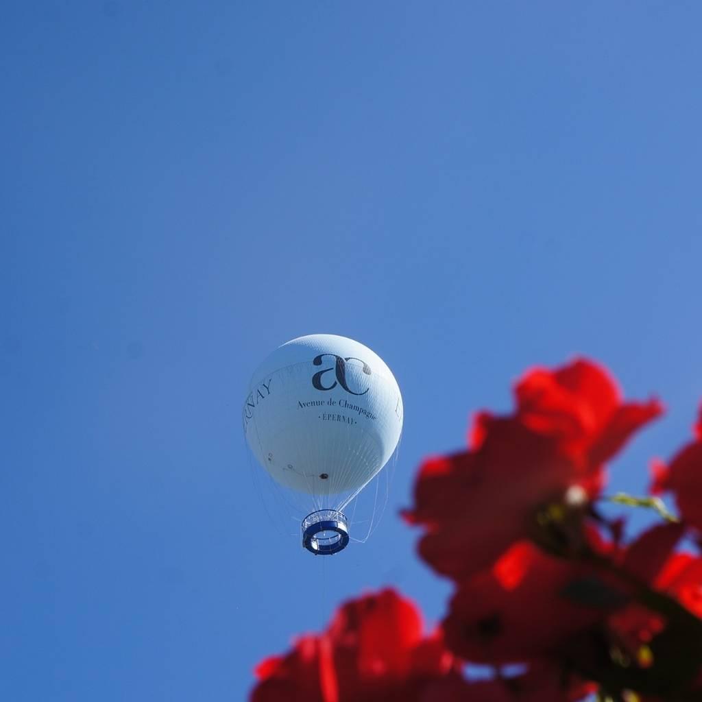 Vol à bord du Ballon d'Epernay avec dégustation de Champagne