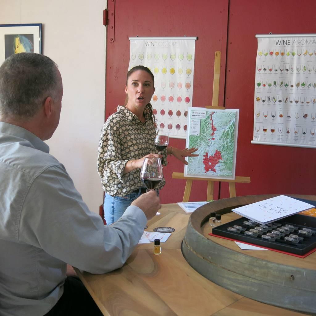 - Introduction to tasting southern Côtes du Rhône wines