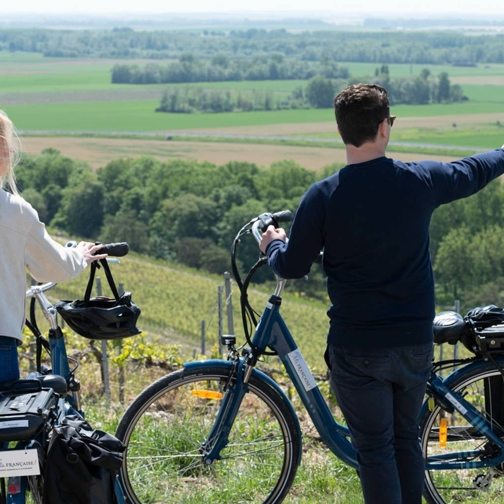Self guided E-bike tour to Hautvillers with tasting