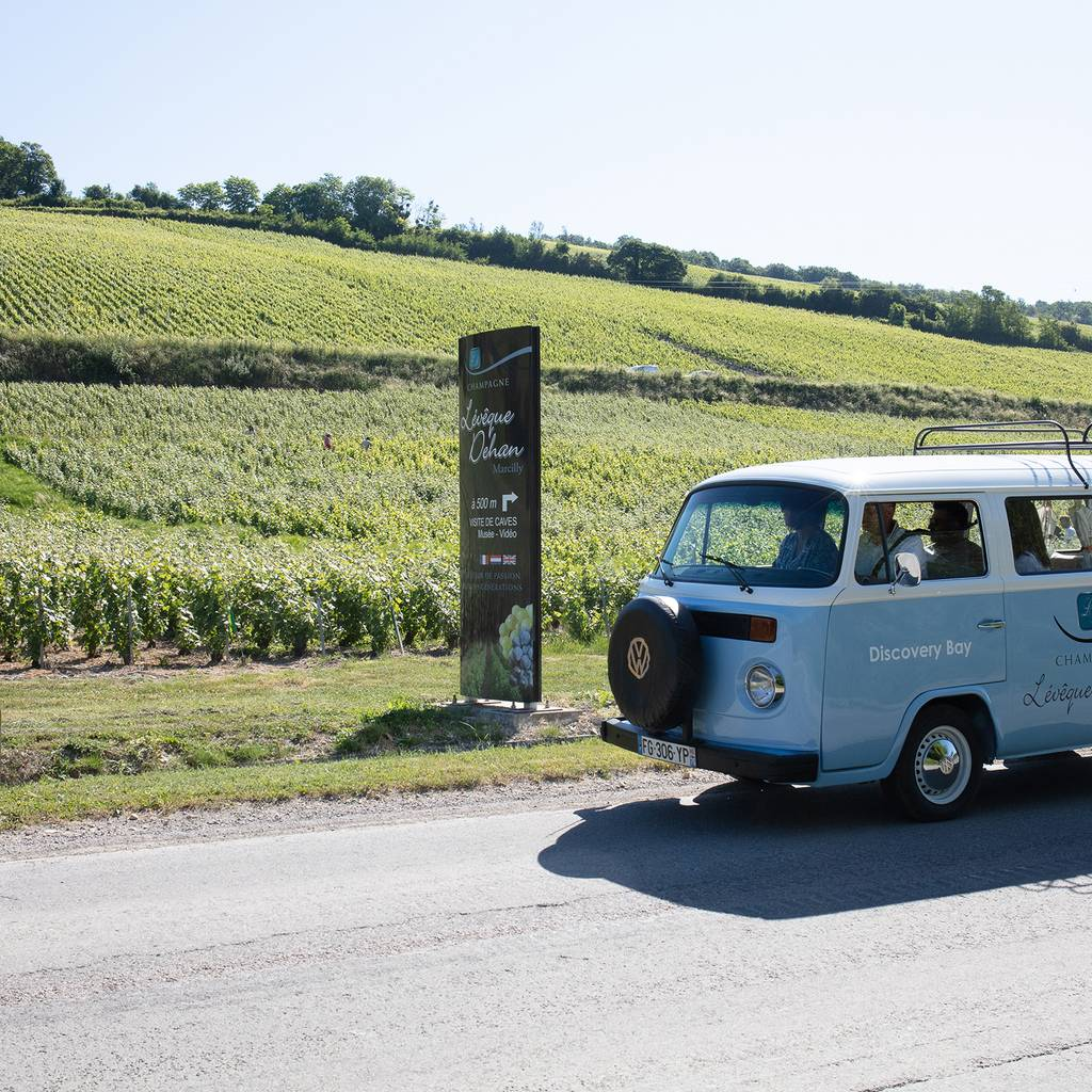 - The Champagne road in old Combi VW